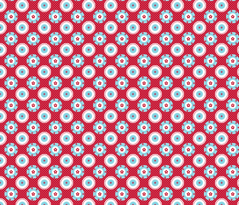 motif_macaron_fleur1 fabric by nadja_petremand on Spoonflower - custom fabric