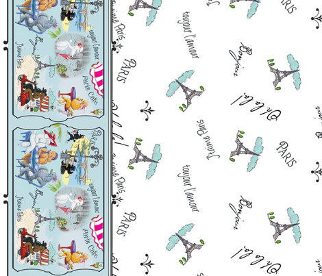Poodles in Paris Border Print fabric by greerdesign on Spoonflower - custom fabric
