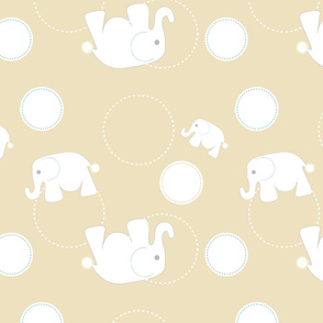 Tossed Elephants Khaki