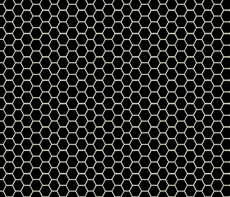 honeycomb black and champagne fabric by ninaribena on Spoonflower - custom fabric