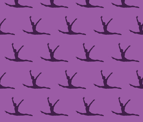 Gymnast fabric by blue_jacaranda on Spoonflower - custom fabric