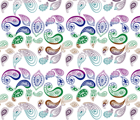 paisleyd fabric by jnifr on Spoonflower - custom fabric
