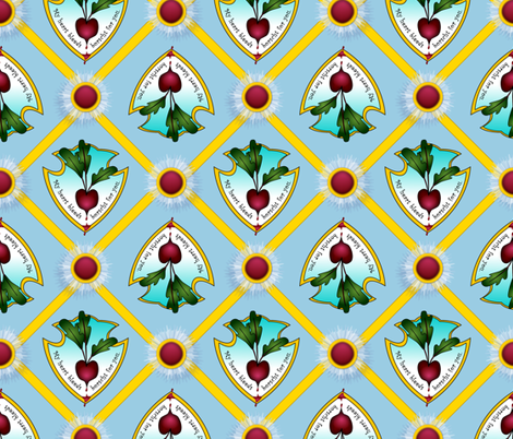 ©2011 my heart bleeds borscht for you fabric by glimmericks on Spoonflower - custom fabric