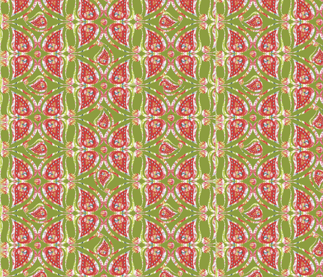paisley_pattern_red_green fabric by cveta on Spoonflower - custom fabric