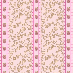 vintage rose ribbon (pink)