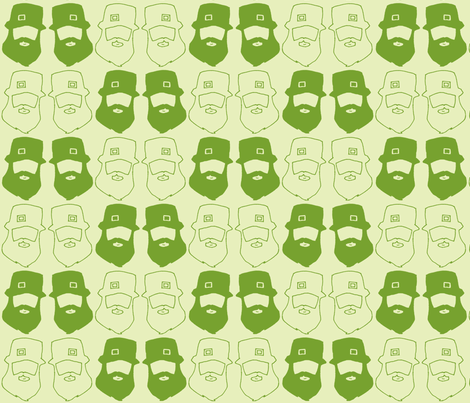 Green with Luck fabric by sparegus on Spoonflower - custom fabric