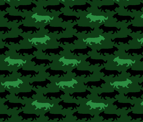 Green Camo Cardigans fabric by rusticcorgi on Spoonflower - custom fabric