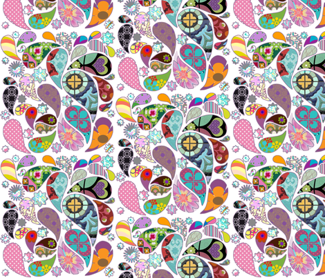 retro_paisley fabric by snork on Spoonflower - custom fabric