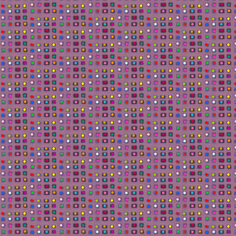 Tiny Dotty Rainbow Grid fabric by boris_thumbkin on Spoonflower - custom fabric