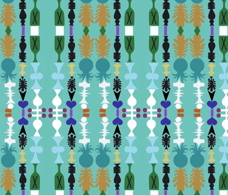 Pineapple Liqueur Stripes fabric by boris_thumbkin on Spoonflower - custom fabric