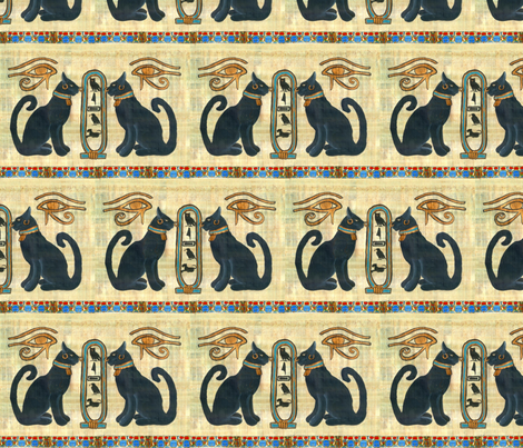 Bast_w_Scarab fabric by ateliergigi on Spoonflower - custom fabric