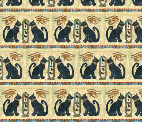 Bast_w_Scarab fabric by ateliergigi on Spoonflower - custom fabric