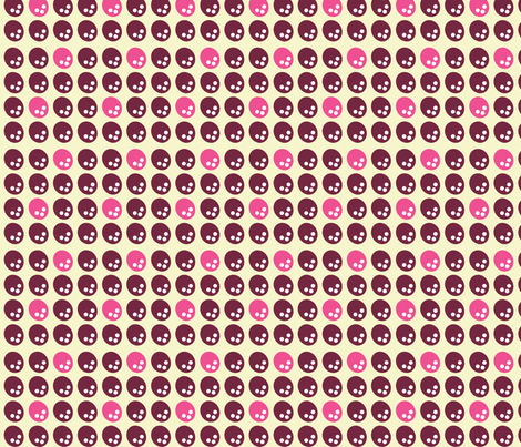 Coconut Dots in Pink fabric by sophiebenoit on Spoonflower - custom fabric