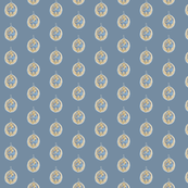 Dot Art Nouveau grey blue