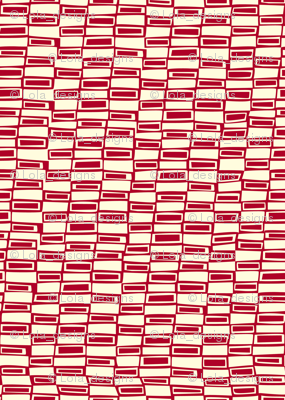 Modern Gingham Check- Red