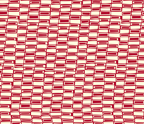 Modern Gingham Check- Red fabric by lola_designs on Spoonflower - custom fabric