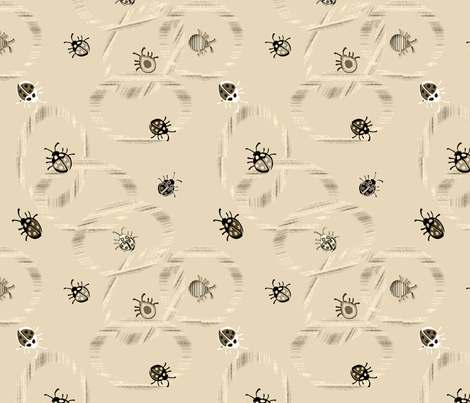 Buggeroo Bugs in Sand fabric by colorcrazed on Spoonflower - custom fabric