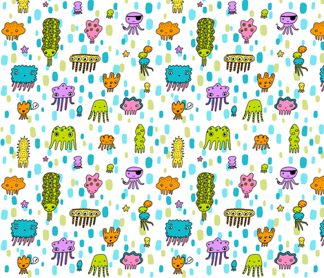 squiddies fabric by liz-adams on Spoonflower - custom fabric