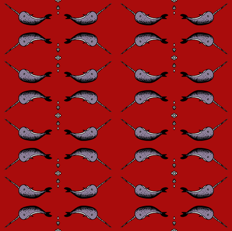 Narwhal fabric by pond_ripple on Spoonflower - custom fabric