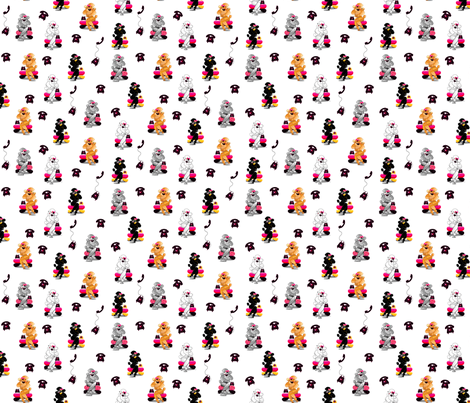 Poodles Retro Phone  fabric by greerdesign on Spoonflower - custom fabric