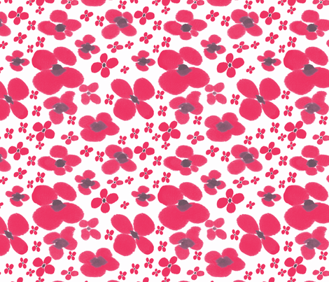 Poppies All Over fabric by sewgertiesew on Spoonflower - custom fabric