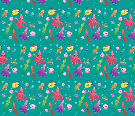 Squidlets fabric by kimberley302 on Spoonflower - custom fabric
