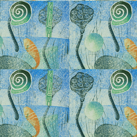 Lagoon Repeat fabric by bad_penny on Spoonflower - custom fabric