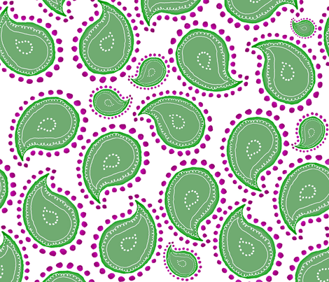 paisley sage, rosemary and thyme fabric by chezmargot on Spoonflower - custom fabric