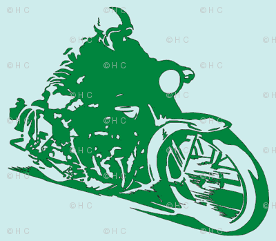 Motorcycle_Dude_greenonblue