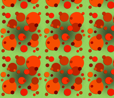 Carrot Spots fabric by nezumiworld on Spoonflower - custom fabric