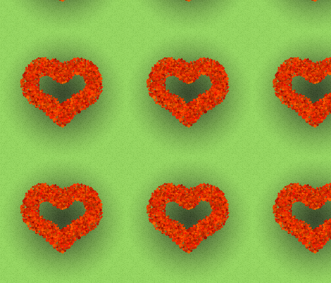 Orange Hearts fabric by nezumiworld on Spoonflower - custom fabric