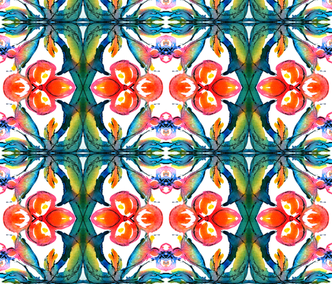 groovy peace flower fabric by cheyanne on Spoonflower - custom fabric