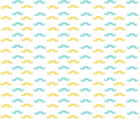 Baby boy mustaches fabric by isabear_designs on Spoonflower - custom fabric