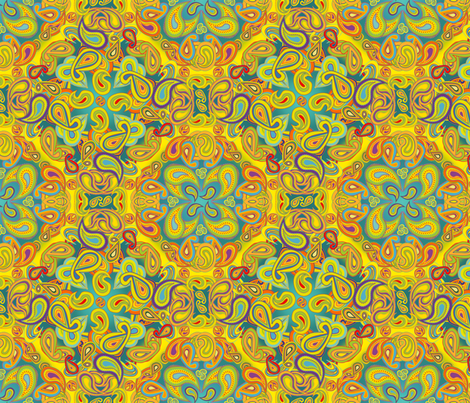 Modern Paisley fabric by coloroncloth on Spoonflower - custom fabric