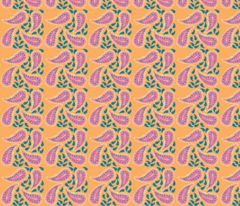 Paisley fabric by tumbleweed_&_poppleswamp on Spoonflower - custom fabric