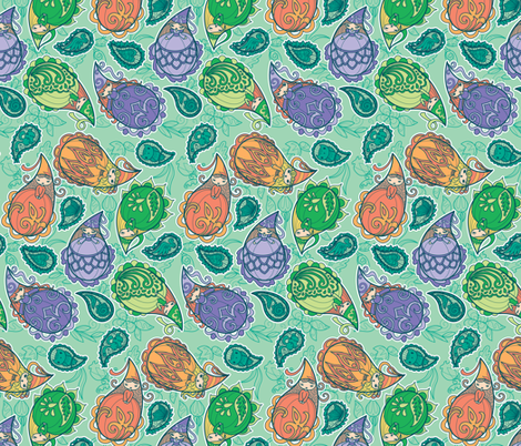 Dewdrop Damsels fabric by jillianmorris on Spoonflower - custom fabric
