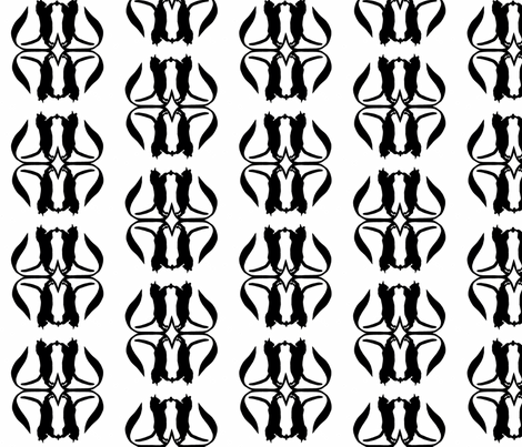 Black Cats on White fabric by thenuthatch on Spoonflower - custom fabric