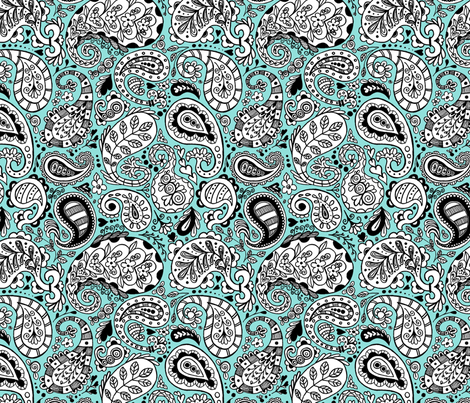 Whimsical Paisley fabric by angelaanderson on Spoonflower - custom fabric