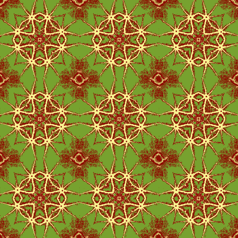 Yellow Cross and Star with green and red. fabric by khowardquilts on Spoonflower - custom fabric
