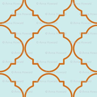 What a Hoot-Orange/Blue Deco Pattern
