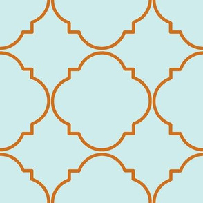 What a Hoot-Orange/Blue Deco Pattern