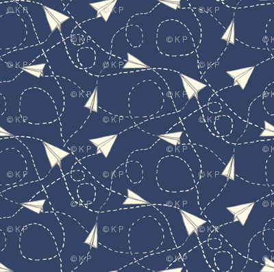 Design Crafty Paper planes 'night sky'
