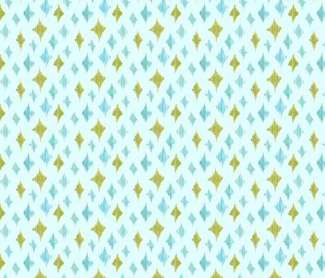Ikat Diamonds - green fabric by katrinazerilli on Spoonflower - custom fabric