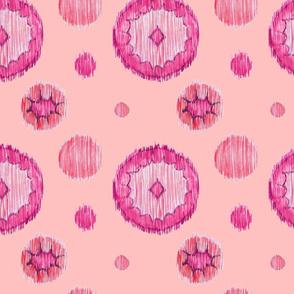 Ikat Dots - pink