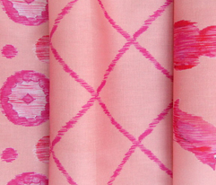 Ikat Lattice - pink