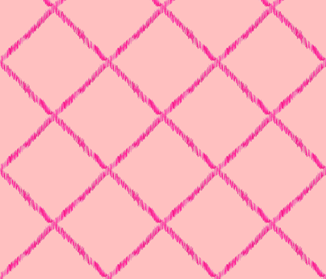 Ikat Lattice - pink fabric by katrinazerilli on Spoonflower - custom fabric