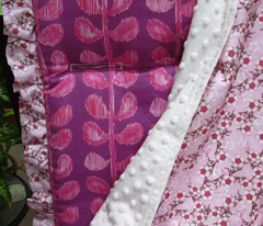 Ikat Stems - pink and violet