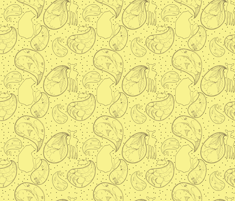 Animal Sounds Plain Paisley fabric by sparegus on Spoonflower - custom fabric