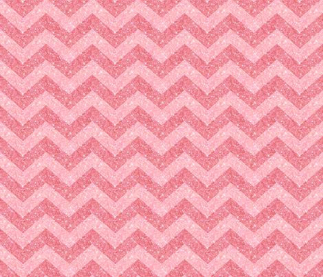 Glitter Chevron Pink on Pink fabric by cynthiafrenette on Spoonflower - custom fabric