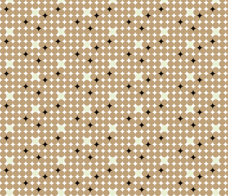 brown dots and in between fabric by luluhoo on Spoonflower - custom fabric
